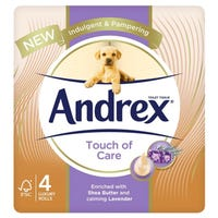 Andrex Toilet Roll Touch Of Care Shea Butter 4 Pack