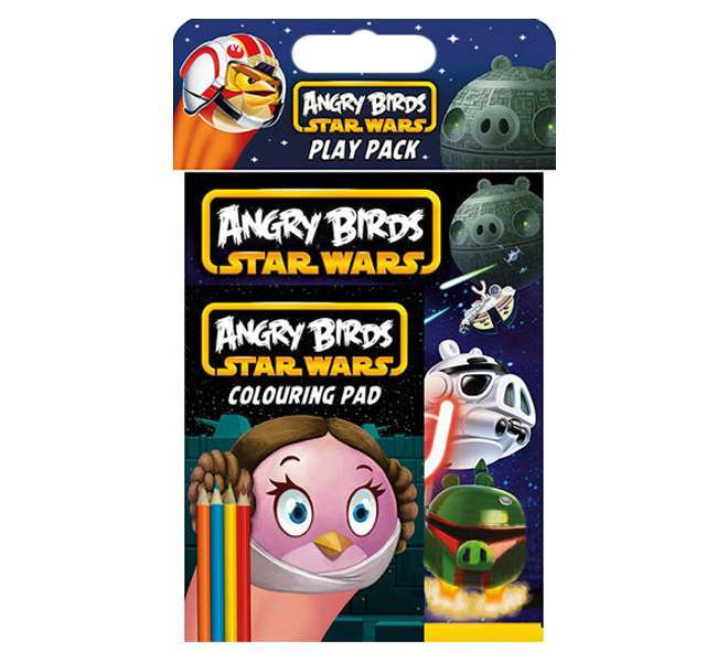 Angry Birds Star Wars Colouring Pad and Pencils