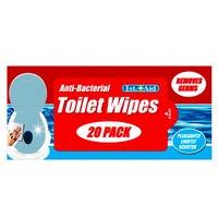 Antibacterial Toilet Seat Wipes 20 Pack