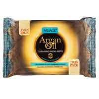 Nuage Argan Oil Cleansing Facial 25 Wipes Twin Pack