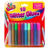 Coloured Glitter Glue Pens 10 Pack