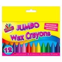 Jumbo Wax Crayons 12 Pack