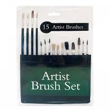 Artist Brush Set - 15 Piece