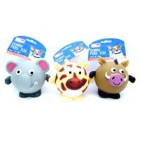 Squeaky Animal Safari Dog Toy Assorted