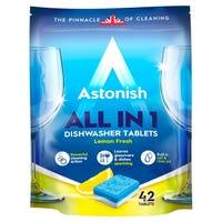 Astonish All In 1 Dishwasher Tablets in Lemon Fresh 42 Pack