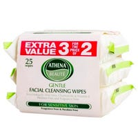 Athena Gentle Cleansing Facial Wipes 3 Pack
