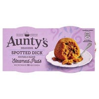 Aunty's Spotted Dick Steam Pudding 2 x 190g
