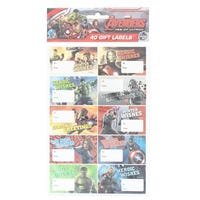 Marvel Avengers Age Of Ultron Gift Labels 40 Pack