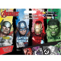 Marvel Avengers Artist Colour And Sticker Pad