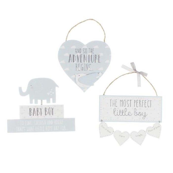 Petit Cheri Plaques Baby Boy 3 Pack