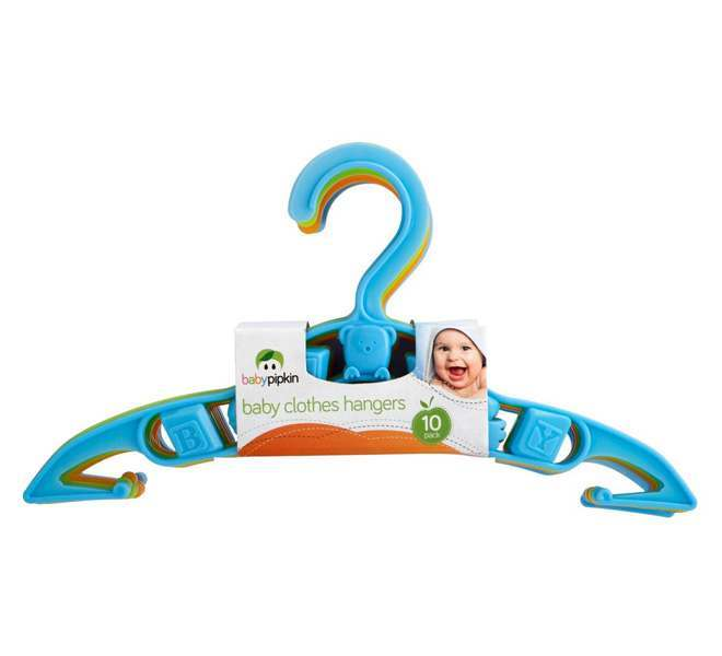 Pack of 10 Baby Pipkin Baby Clothes Hangers - Blue