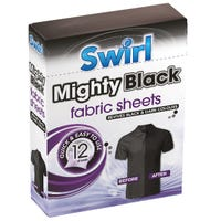 Swirl Mighty Black Fabric Sheets 12 Pack