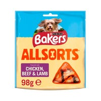Bakers Allsorts Chicken Beef and Lamb 98g