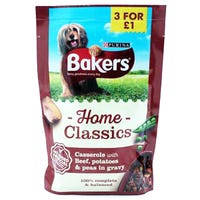Bakers Home Classic Pouches Beef 100g Pouch