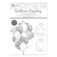 Balloon Assortment Set in Silver 14 Pack