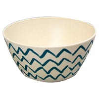 Bamboo Bowl with Zig Zag Print