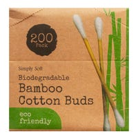 Biodegradable Bamboo Cotton Buds 200 Pack