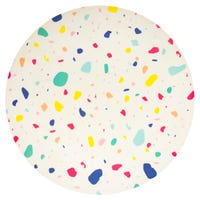 Bamboo Plate with Colour Splats Print