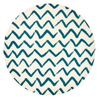 Bamboo Plate with Zig Zag Print