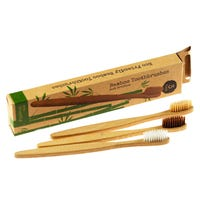 Eco Friendly Bamboo Toothbrushes 3 Pack