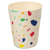 Bamboo Tumbler with Colour Splats Print