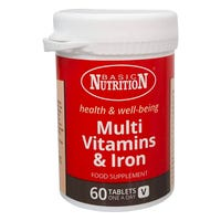 Basic Nutrition Multivitamins and Iron 60 Tablets