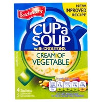 Batchelors Cream of Vegetable Cup A Soup 4 Pack