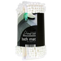 Chenille Bath Mat in White