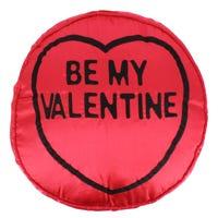 Love Hearts Be My Valentine Silk Cushion