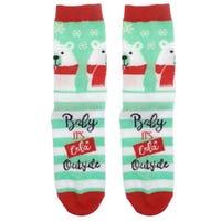 Ladies Christmas Socks Polar Bear 1 Pair