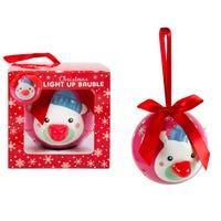 Christmas LED Flashing Bauble Polar Bear