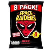 Space Raiders Corn Snacks Beef 8 Pack