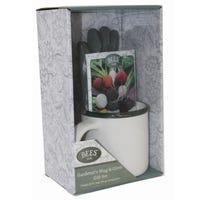 Gardeners Beetroot Mug Glove Gift Set