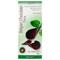 Belgian Mint Chocolate Thins 80g