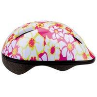 Girls Bicycle  Helmet with flowery Print