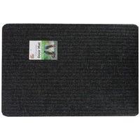 Polyester Doormat Black 60x40cm