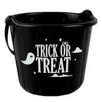 Trick Or Treat Bucket Black