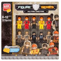 Military and Fire Play Figures 10 Pack