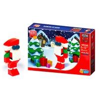 Block Tech Christmas Santa Figure