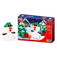 Block Tech Christmas Snowman Figure
