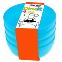 Edgo Dineit Bowls Blue 4 Pack