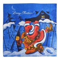 Napkins Christmas Blue 20 Pack