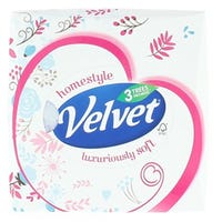 Velvet Cube Tissues Pink And Blue Floral 3ply