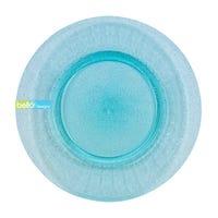 Aqua Blue Glitter Large Plate
