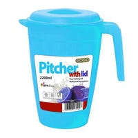Edgo Blue Pitcher With Lid 2200ml