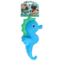 Squeaky Seahorse Dog Toy in Blue