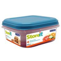 Edgo Food Storage Container Blue 4 Piece