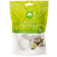 Elysium Spa Bath Bombs Coconut and Lime 3x50g