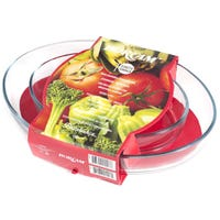 Borcam Glass Baking Oval Dish 2 Pack