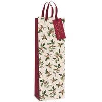 Gift Bottle Bag Glitter Holly